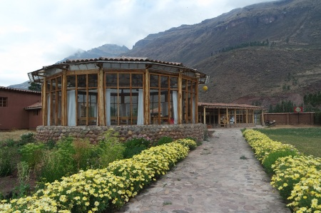The Conference hall at Paz y Luz Hotel, Pisac , Peru