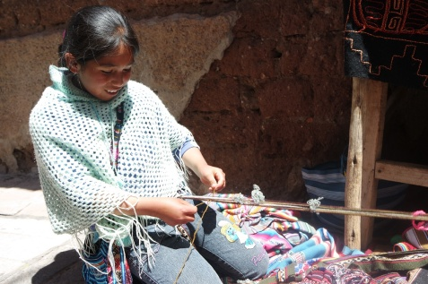 Girls were taught how to weave from young