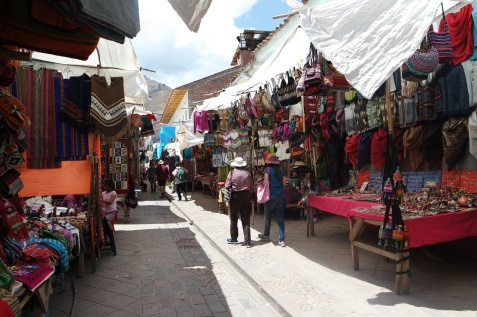 Streets along the Pisac Market
