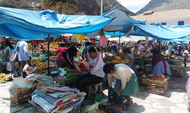 The Pisac Market at Cusco, Peru