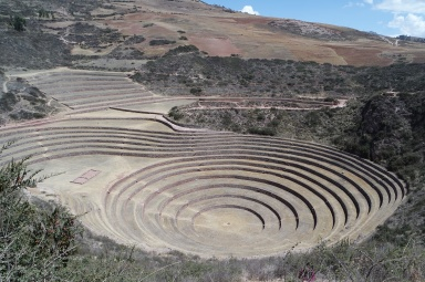 Circular Terraces at Moray Ruins. It was considered to the place where the Incas perform ed the agricultural ceremonies.