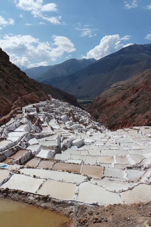 The salt flats of Maras. One of the Inka ruins. It was hard to get salt on highlands. Salt was the vital resource for the Inka empire. It was believed as the blessings from the Sun.