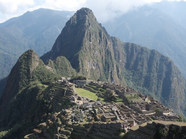 Machu Picchu (meaning 'Old Peak' in the Quechua language) Machu Picchu seems to have been utilized by the Inca as a secret ceremonial city.
