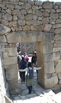 The doorway. During the Inka empire, there were no doors and no shutters for windows.