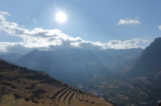 Sunrise at the Scared Valley, Pisac ruins