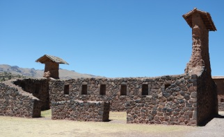 Buildings at Raqch'i destroyed by the Spanish. The houses for the governors during the Inca empire.