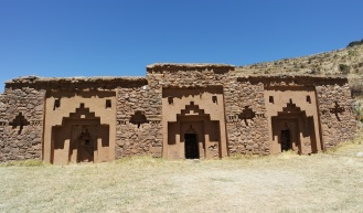 "Iñaq Uyu (in Aymara language) or Aklla Wasi (in Quechua) , it is also know as the ""House of the virgins of the sun"" . The ruins was found on the island of the Moon Island which is the second largest island on the lake Titicaca."