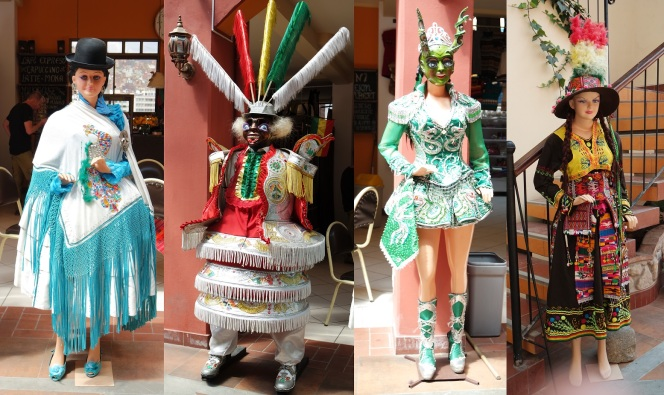 Traditional costumes in Bolivia