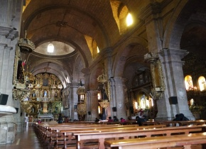 The interior of San Francisco Church (La Paz)